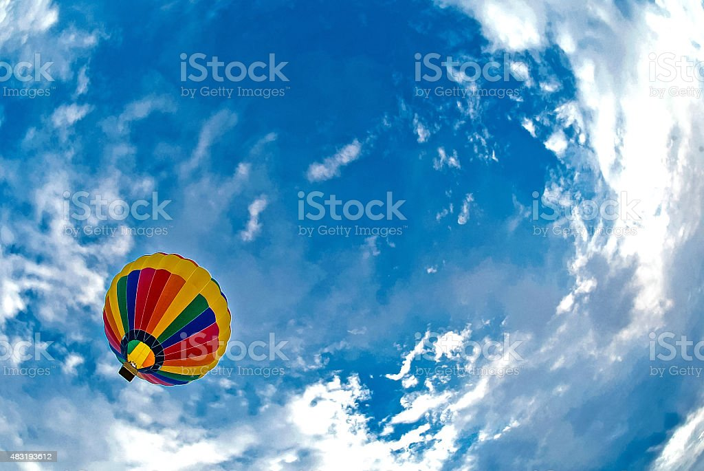 Multicolored balloon stock photo
