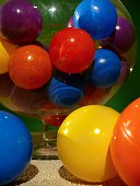 Multi-colored balloons in the studio
