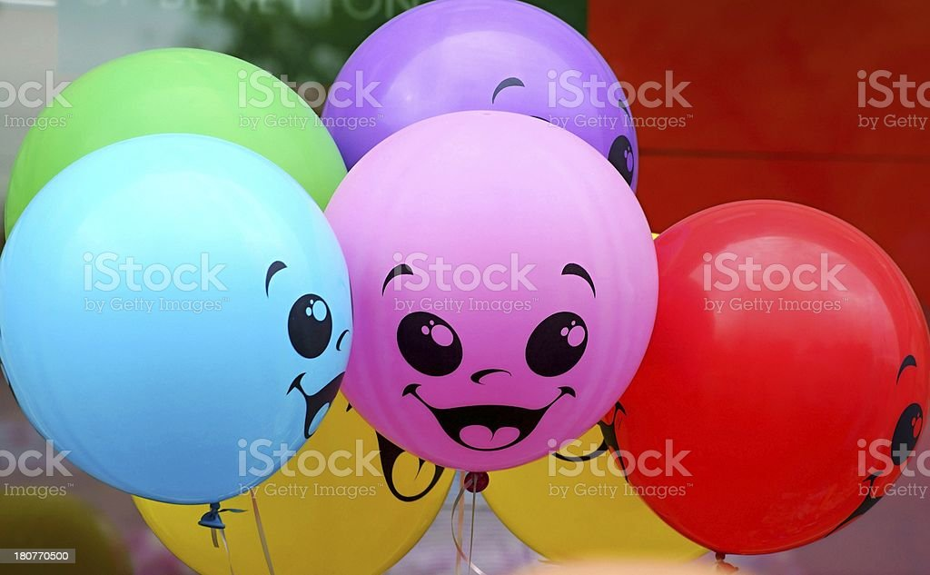 Multi-colored balloons royalty-free stock photo