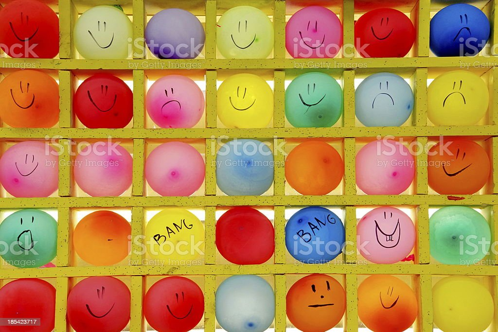 Multicolored Balloons Shooting Target  background. royalty-free stock photo