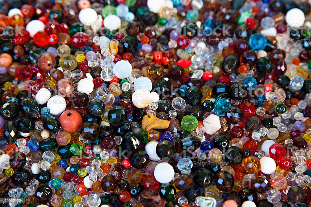 Multicolored beads stock photo