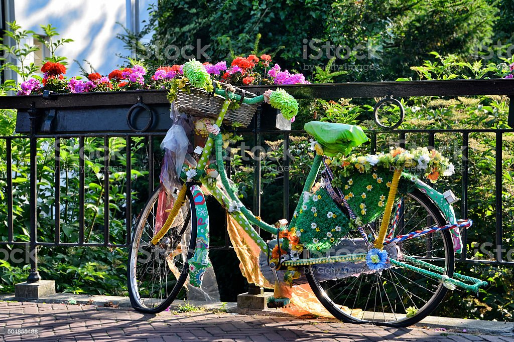Multicolored Bike stock photo