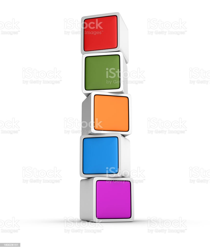 Multicolored Blocks royalty-free stock photo