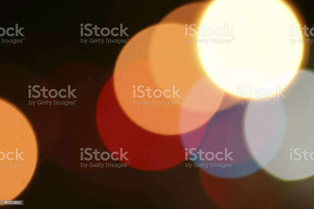 Multi-colored blurred bokeh lights at night royalty-free stock photo