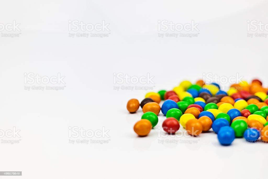 Multi-colored candy - Peanut stock photo