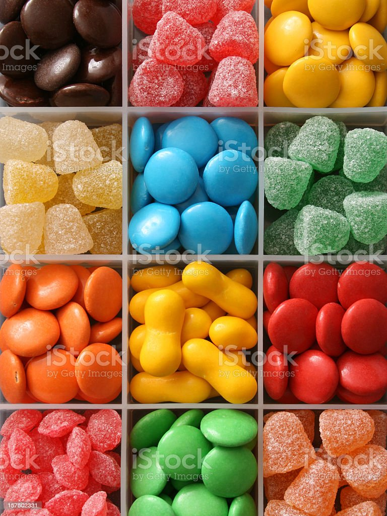 Multicolored candy royalty-free stock photo