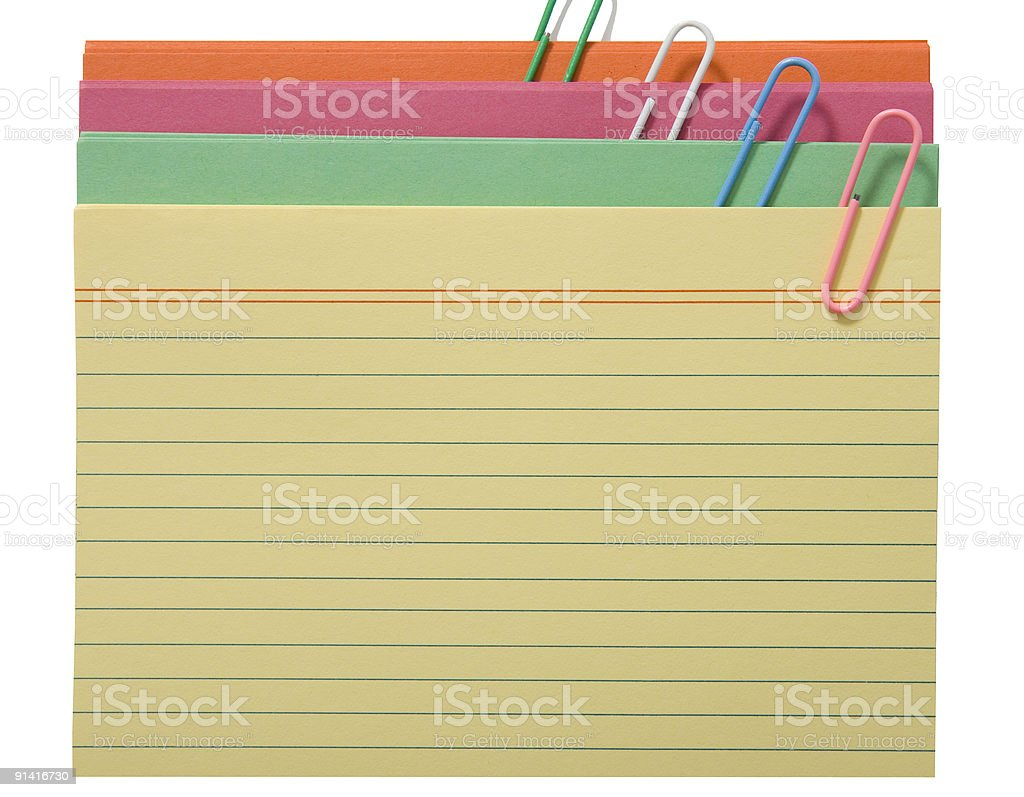 Multicolored card royalty-free stock photo