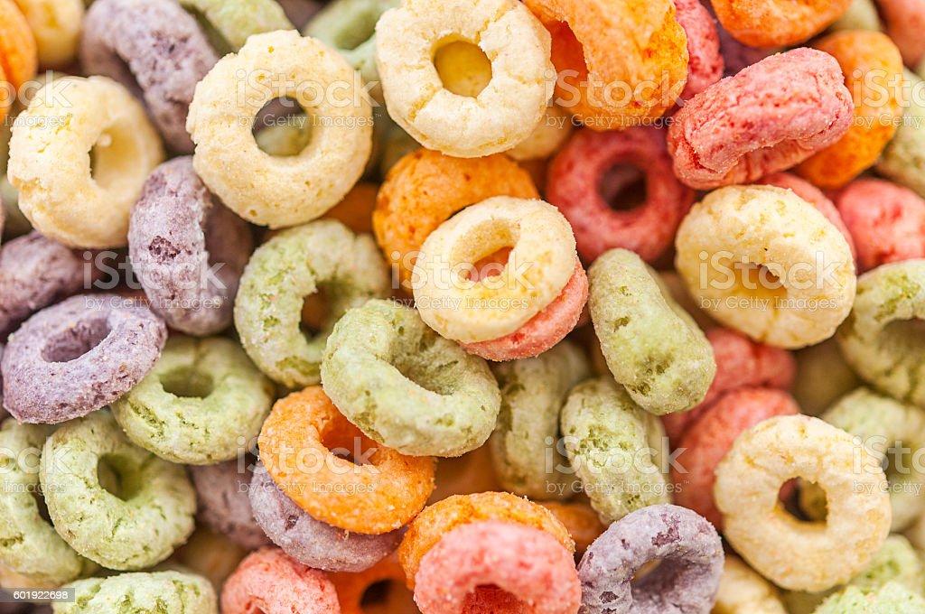 Multicolored cereal stock photo