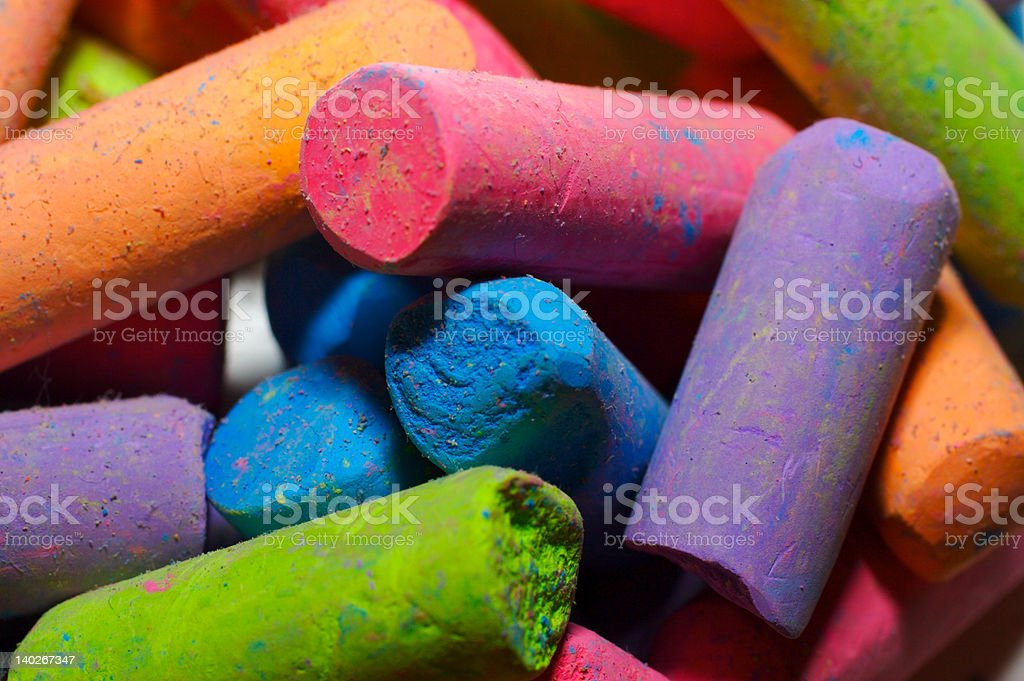 Multicolored chalk royalty-free stock photo