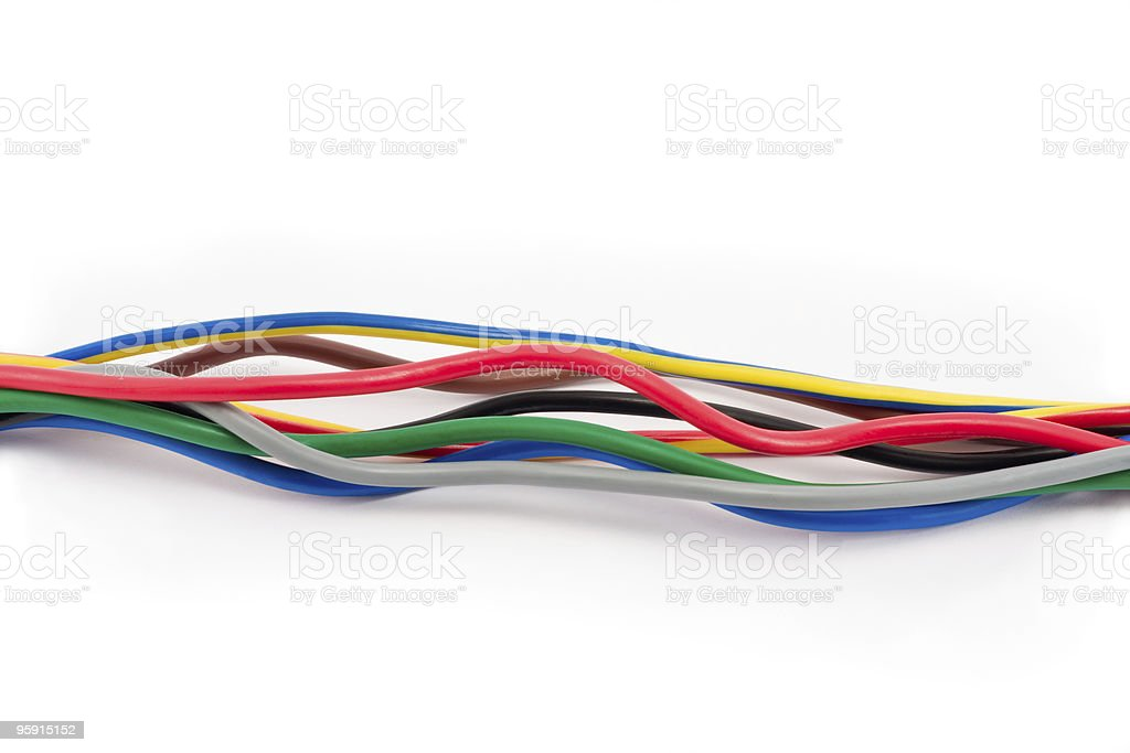 Multicolored computer cable royalty-free stock photo
