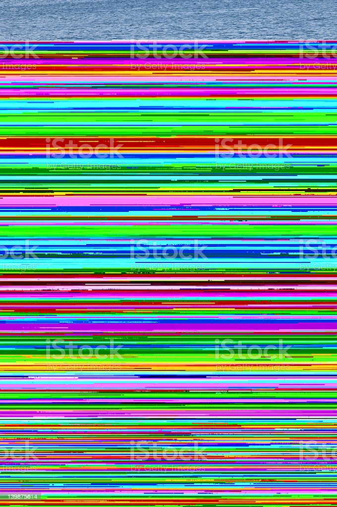 Multicolored computer static lines royalty-free stock photo