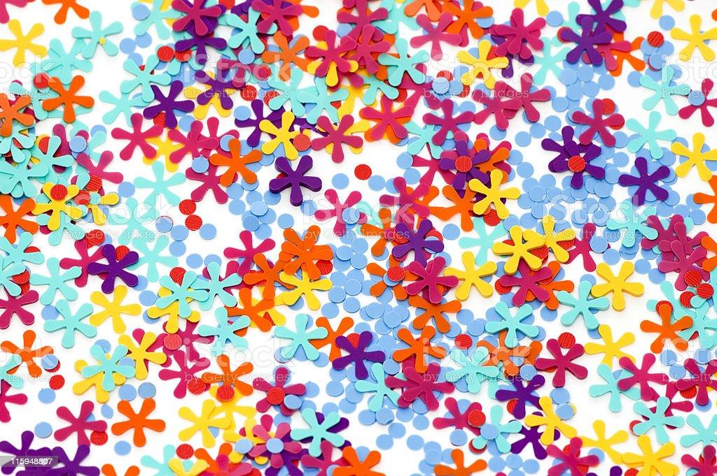 Multicolored Confetti Background royalty-free stock photo
