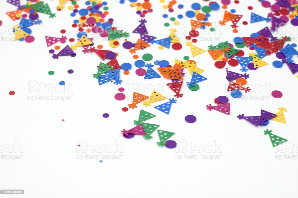 Multicolored Confetti stock photo
