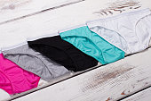Multicolored cotton briefs.