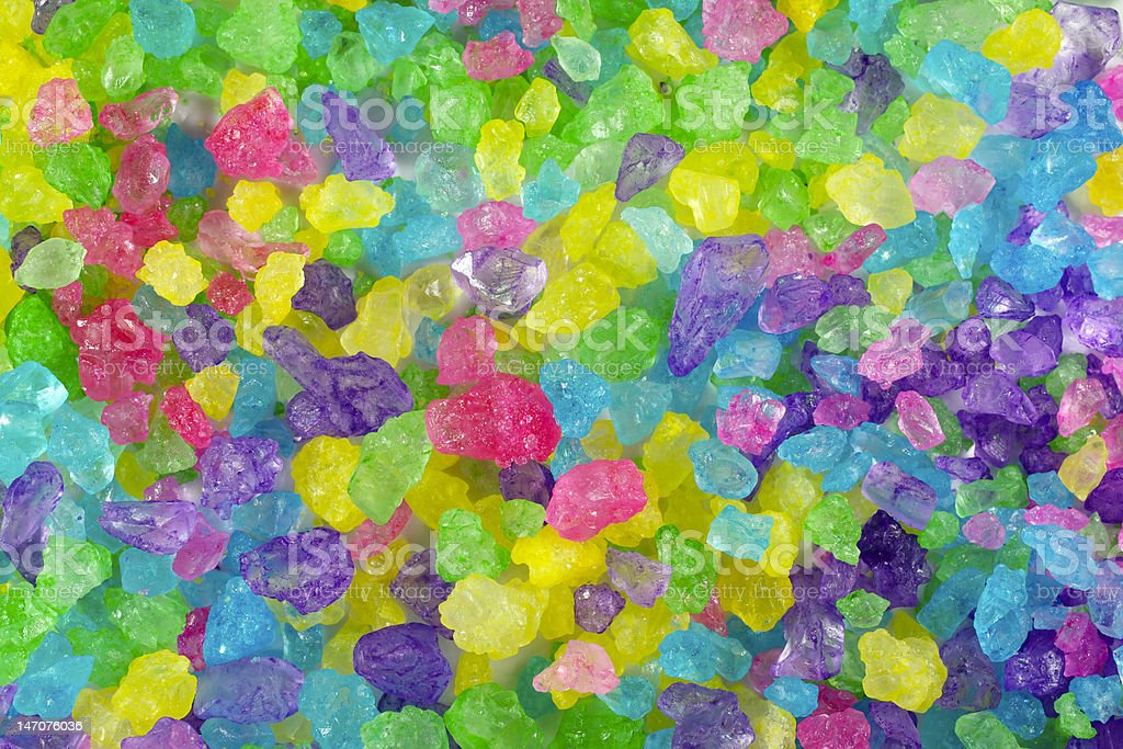Multicolored Crystal Rock Background stock photo
