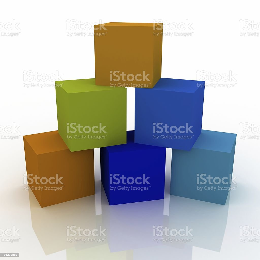 Multicolored Cubes royalty-free stock photo