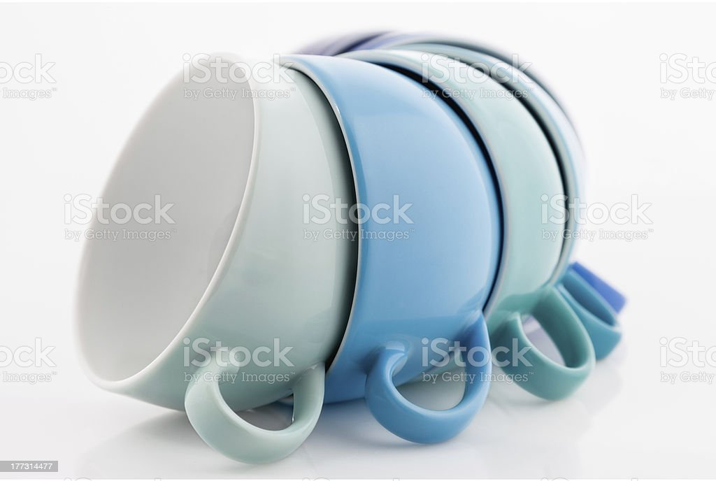 Multicolored Cups royalty-free stock photo