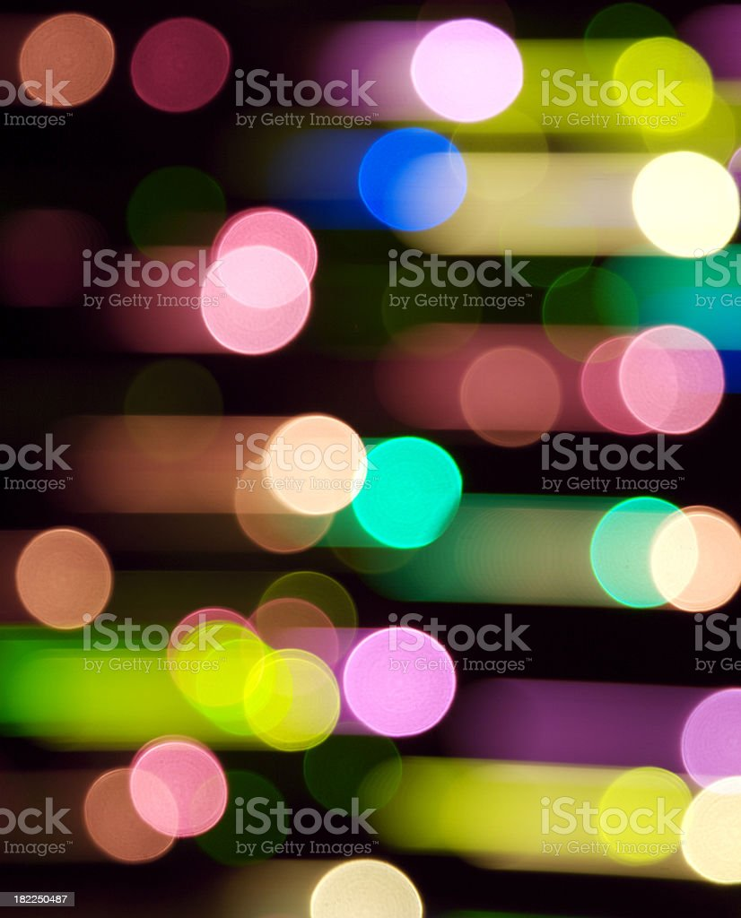 Multicolored defocused lights abstract with panning blur royalty-free stock photo