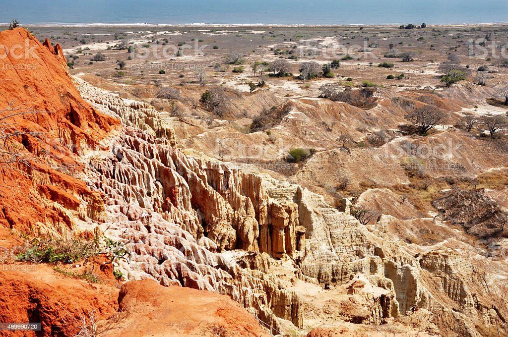 Multi-colored Desert Landscape stock photo