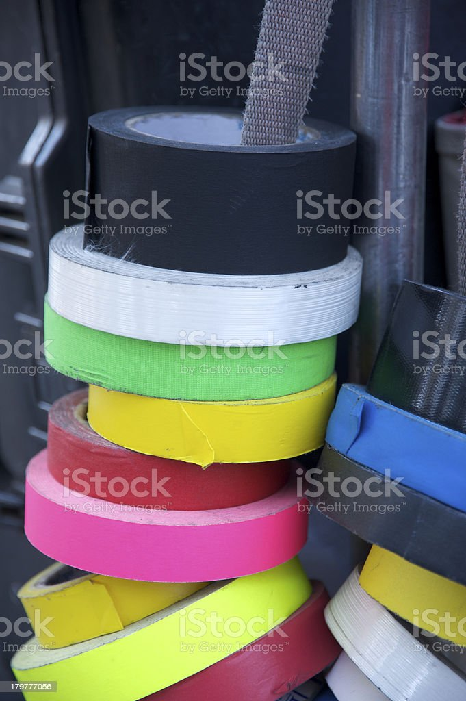 Multicolored duct tape rolls royalty-free stock photo