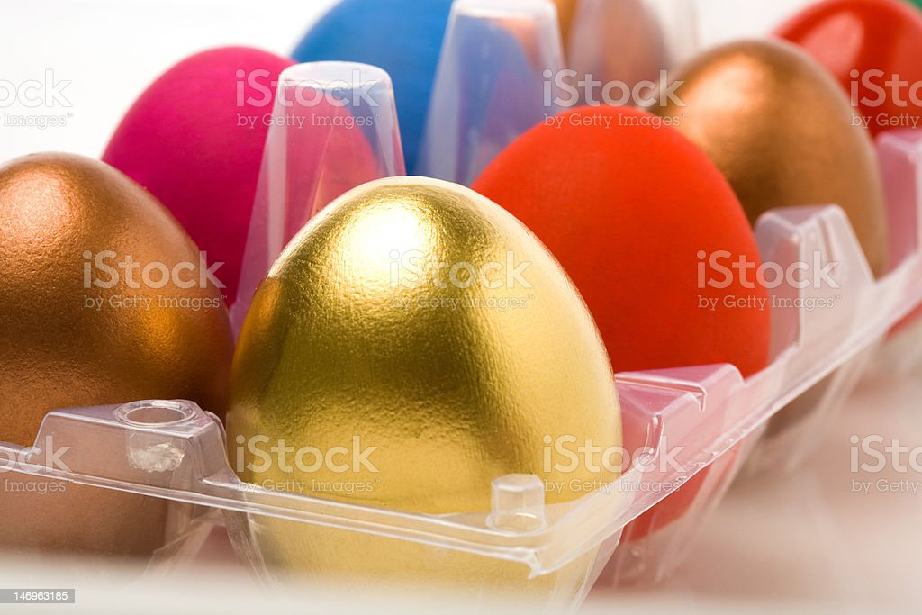 Multicolored Easter eggs royalty-free stock photo