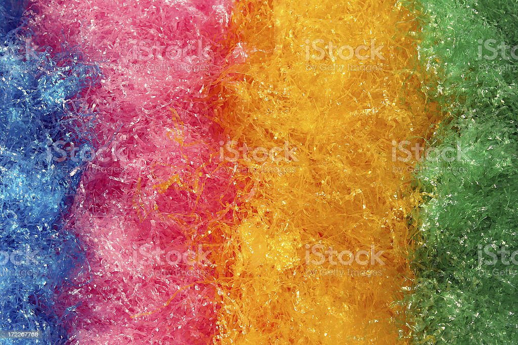 Multi-colored Easter Grass stock photo