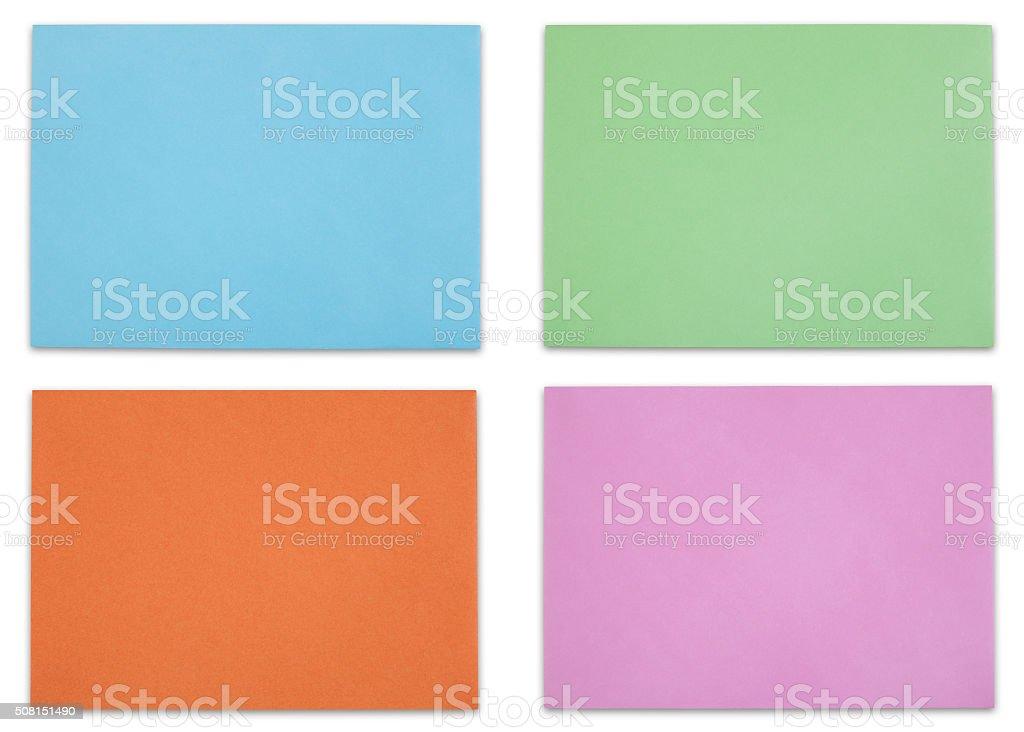 Multicolored envelopes stock photo