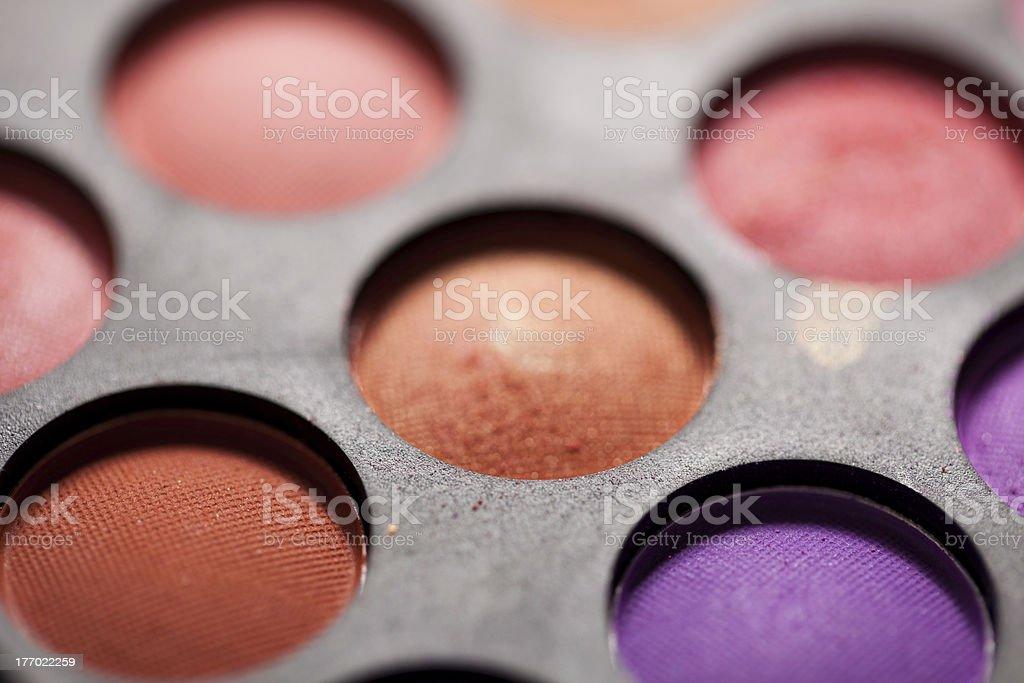 Multicolored Eye Shadows royalty-free stock photo