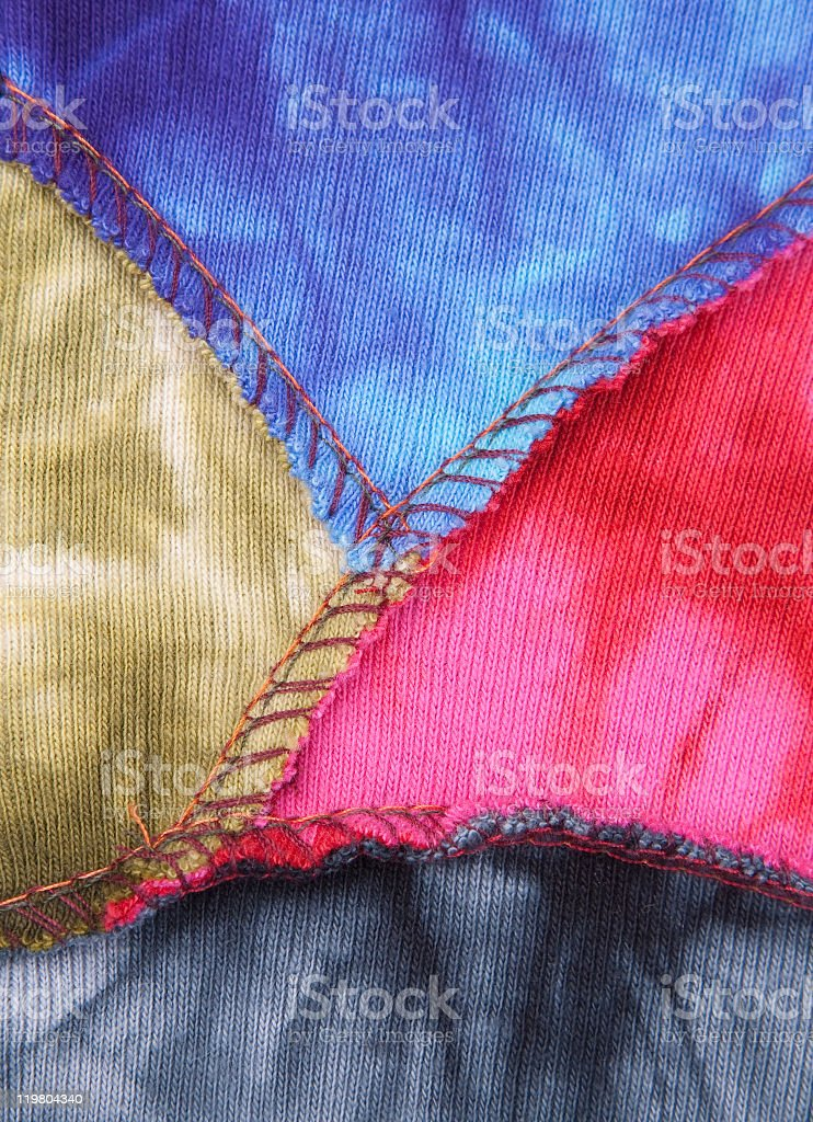 Multicolored fabric royalty-free stock photo