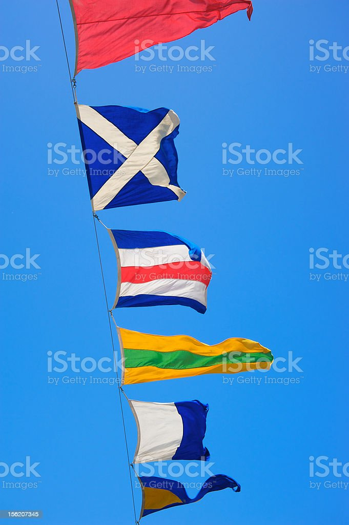 Multicolored flags royalty-free stock photo