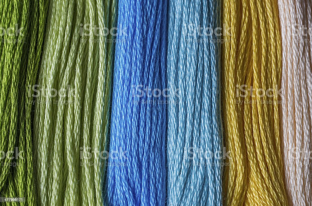 Multicolored floss royalty-free stock photo