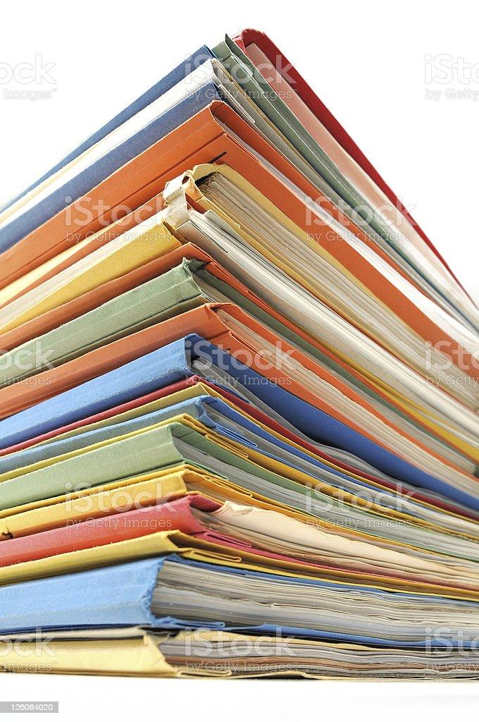 Multicolored folders stock photo