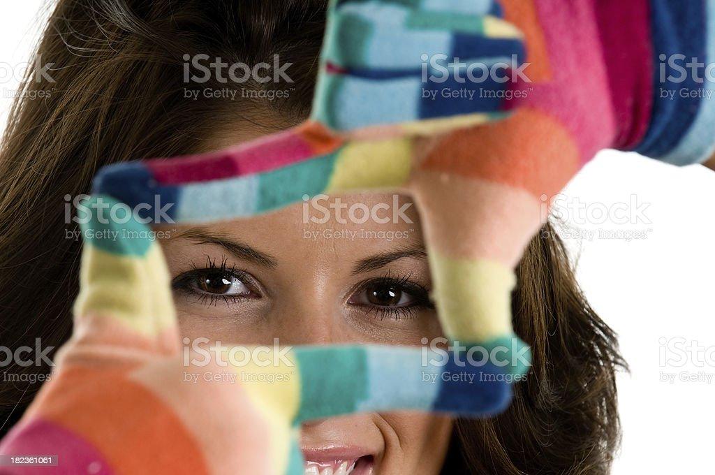 Multi-colored Gloves stock photo