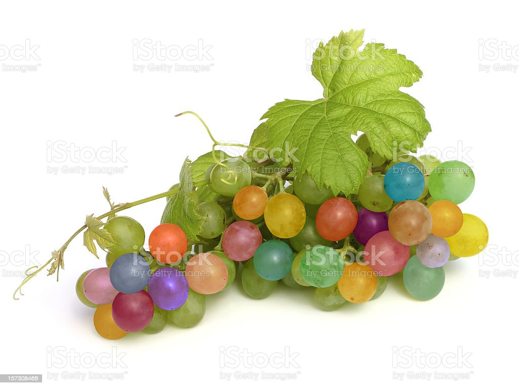multicolored grape royalty-free stock photo