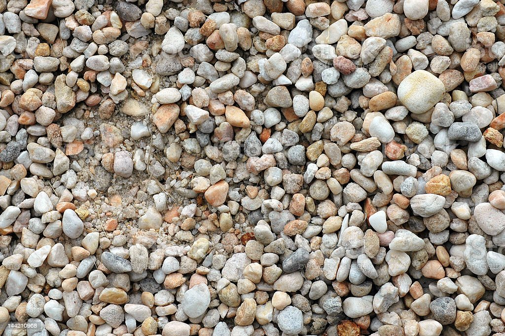 Multi-colored Gravel royalty-free stock photo