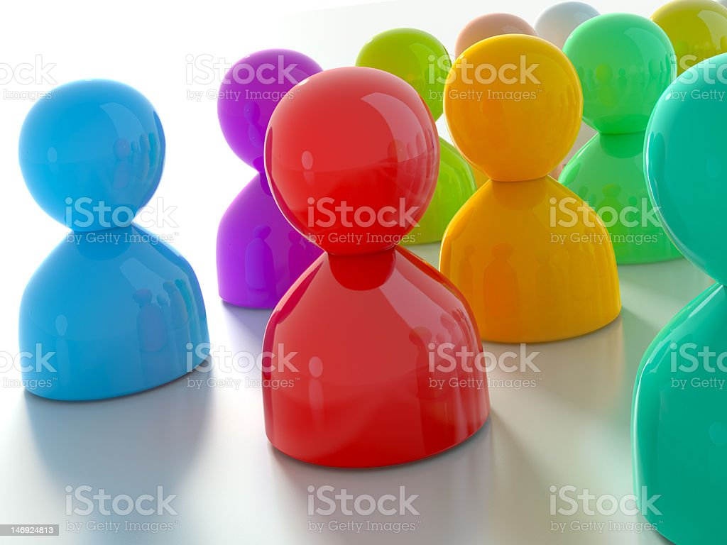 Multicolored Group of Piecies royalty-free stock photo