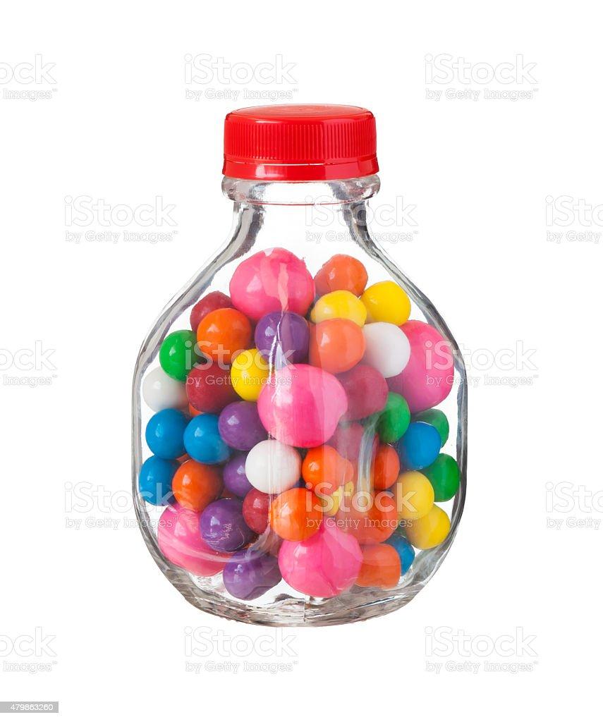 Multicolored gumballs bubble gums stock photo