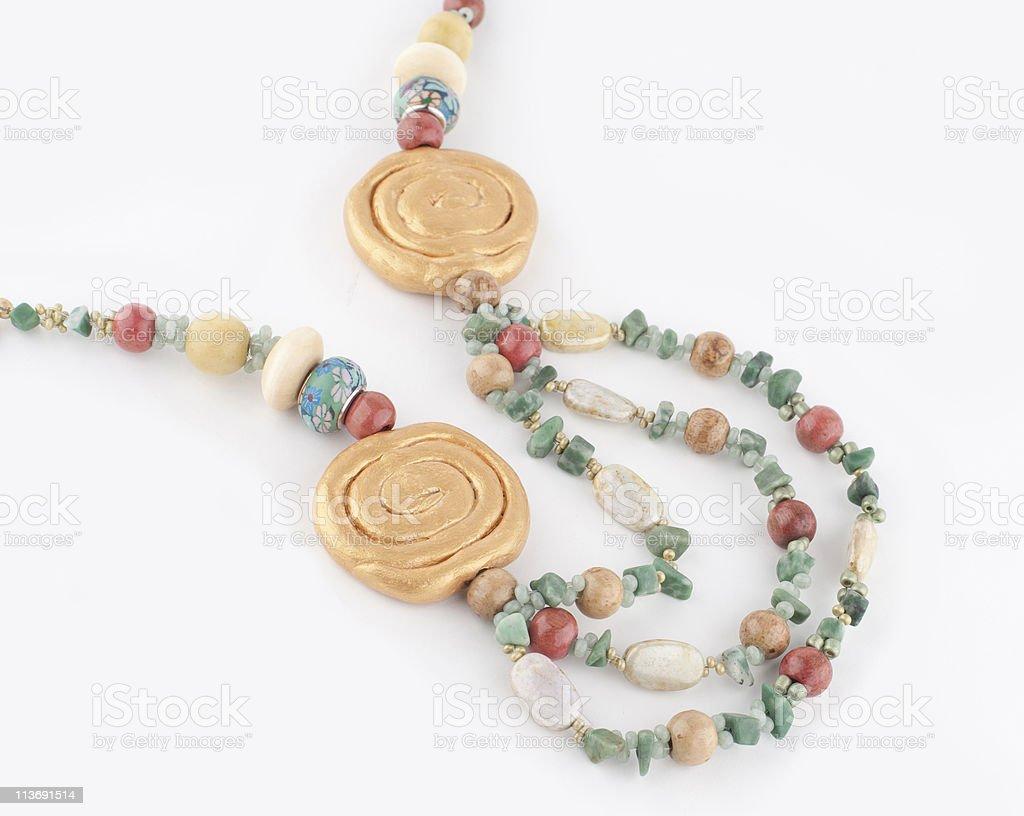 Multicolored Handmade Necklace stock photo
