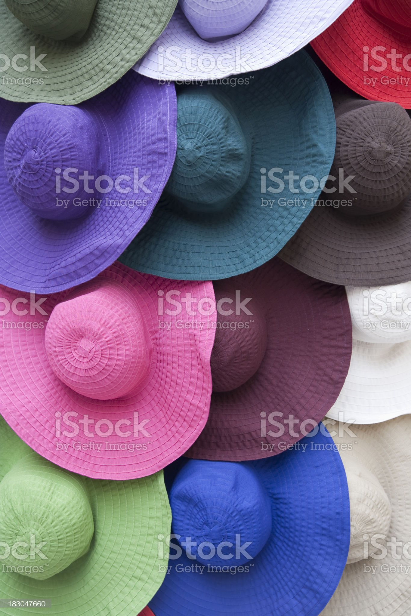 Multicolored hats royalty-free stock photo
