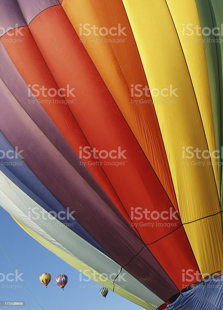 Multi-Colored Hot Air Balloons In Flight royalty-free stock photo