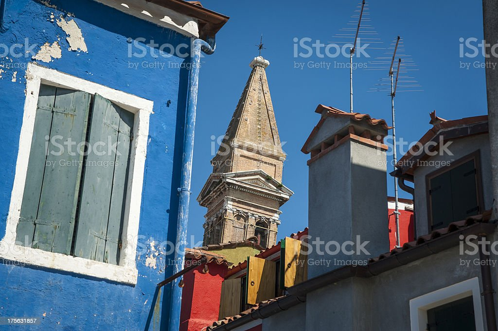 Multi-colored houses, Burano, Italy royalty-free stock photo
