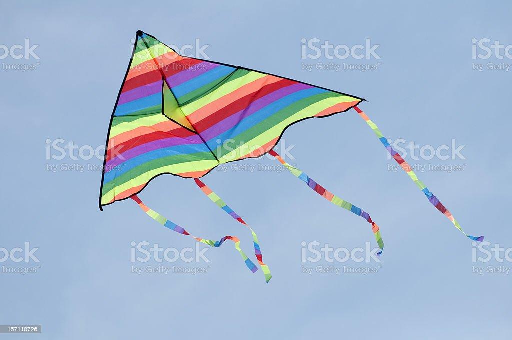 Multicolored kite stock photo