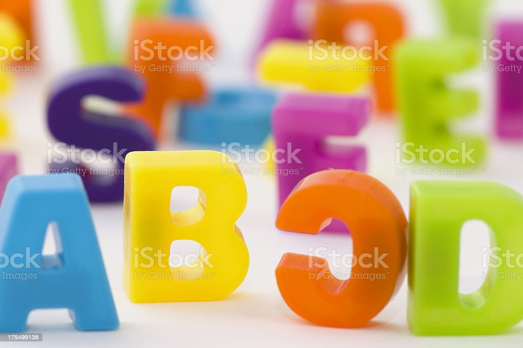 Multicolored Letters royalty-free stock photo