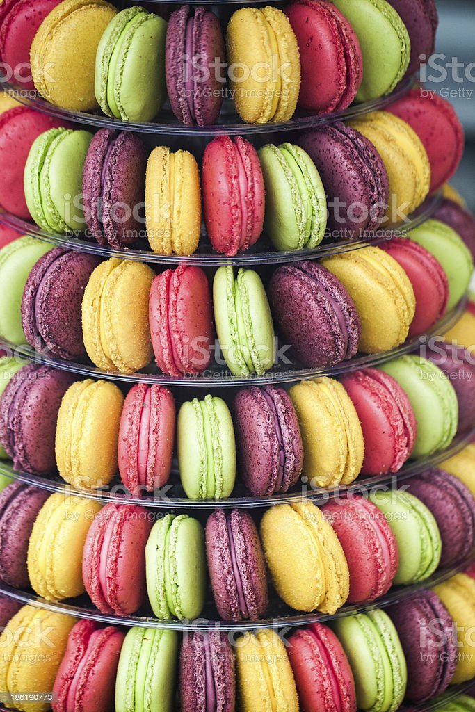 multicolored macaroons for gourmets royalty-free stock photo