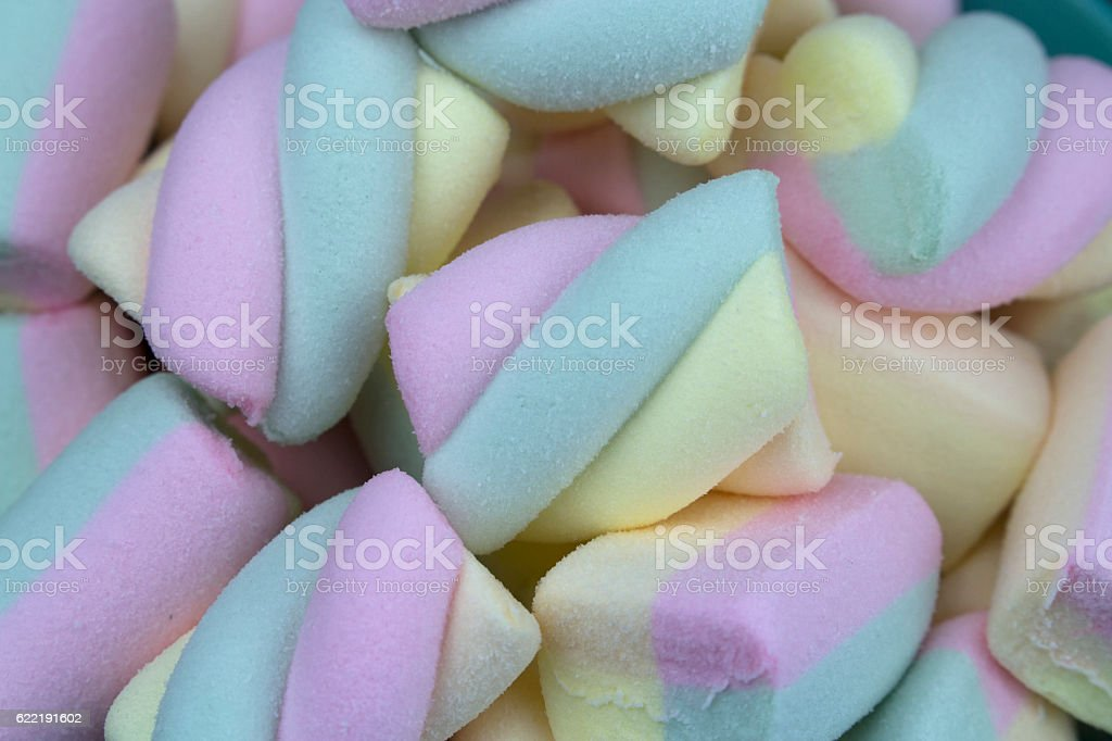 Multicolored marshmallows background royalty-free stock photo