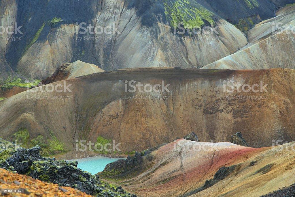 Multicolored mountains at Landmannalaugar, stock photo
