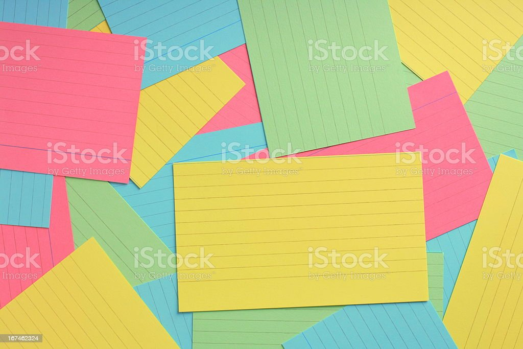 Multicolored Note Card Background royalty-free stock photo