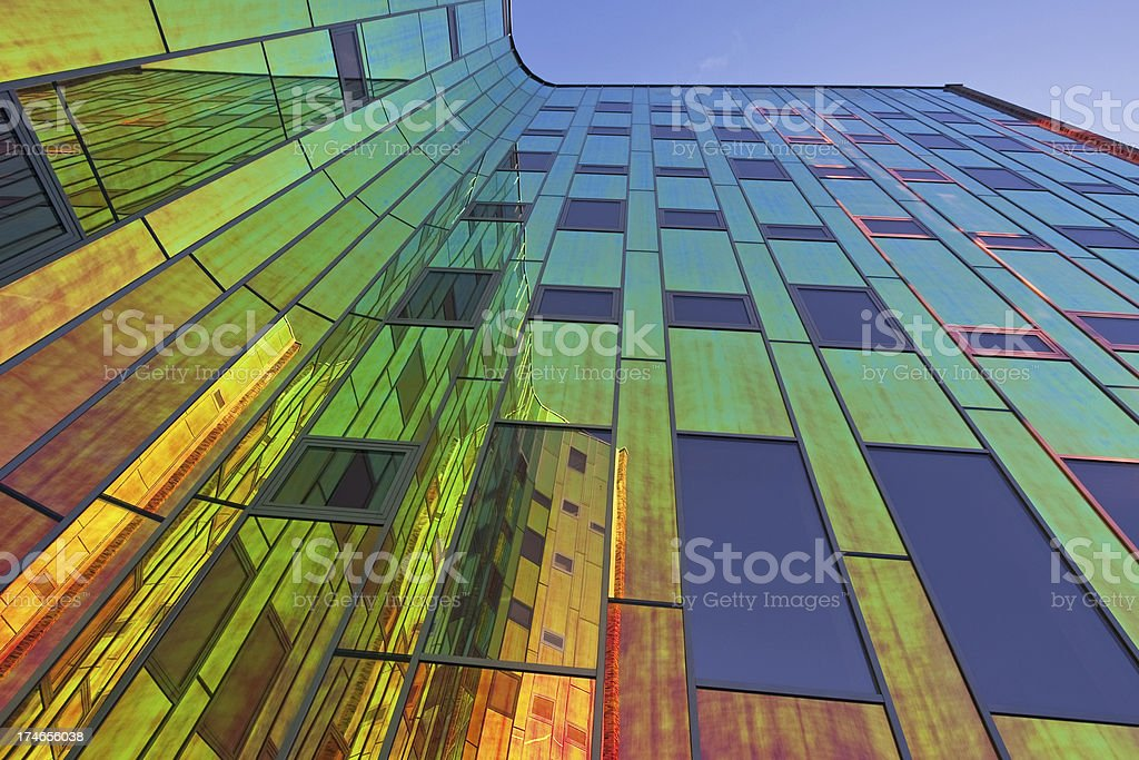 Multicolored office building # 7 royalty-free stock photo