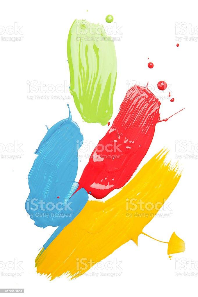 multi-colored paint blob(w/path) stock photo