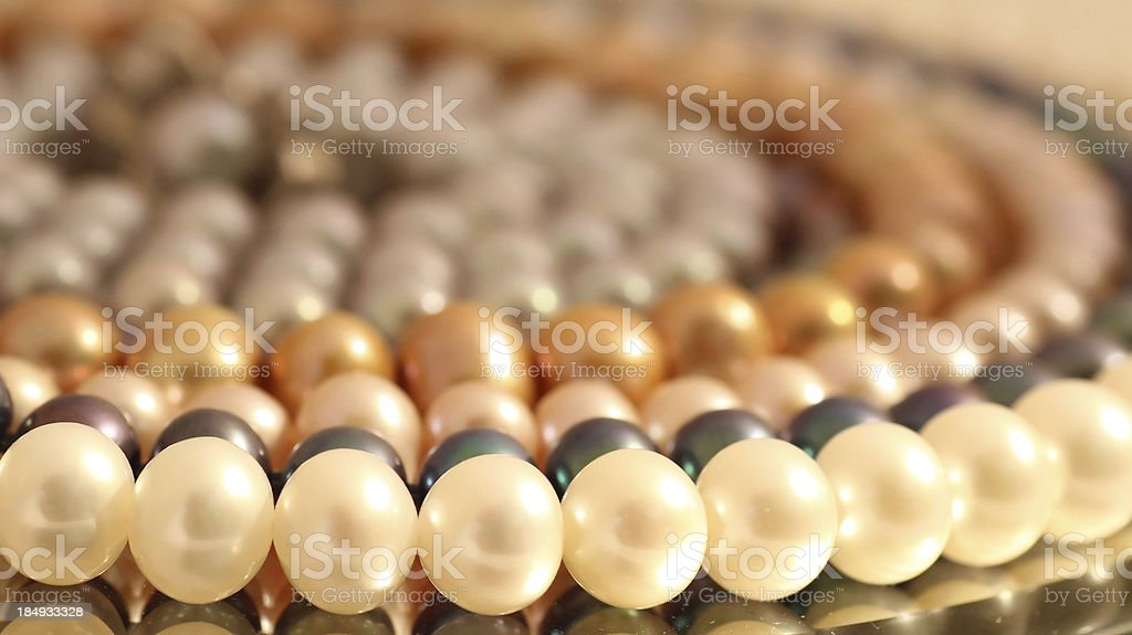 multi-colored pearls royalty-free stock photo